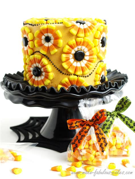 halloween cake decorating  candy corn cake