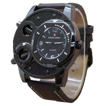 Jam Tangan Fossil Kulit Motif harga mirage jam tangan pria tali kulit 7215 hitam