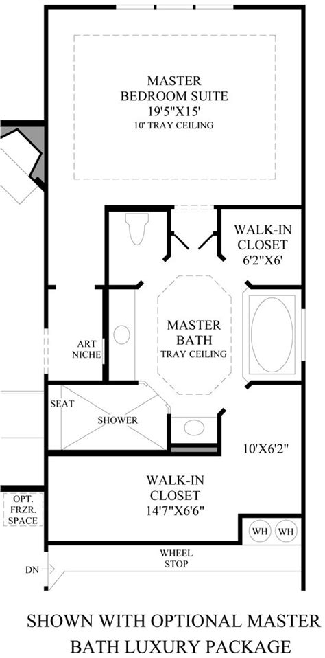 master bath layout  wasted space  efficient separate closets  linen