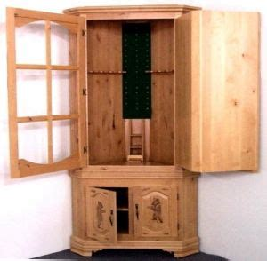 corner gun cabinet plans wood clean easy complete wooden hidden gun cabinets for sale