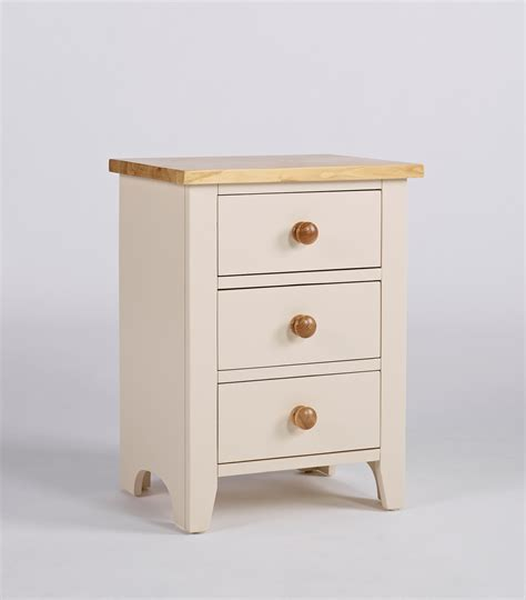 Bedside Cabinet | camden painted pine ash 3 drawer bedside cabinet up to