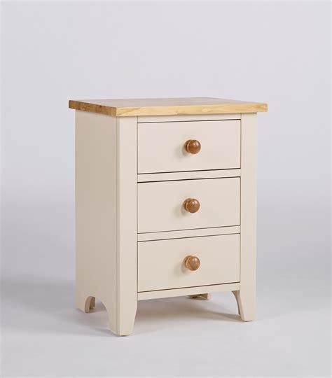 Camden Painted Pine & Ash 3 Drawer Bedside Cabinet