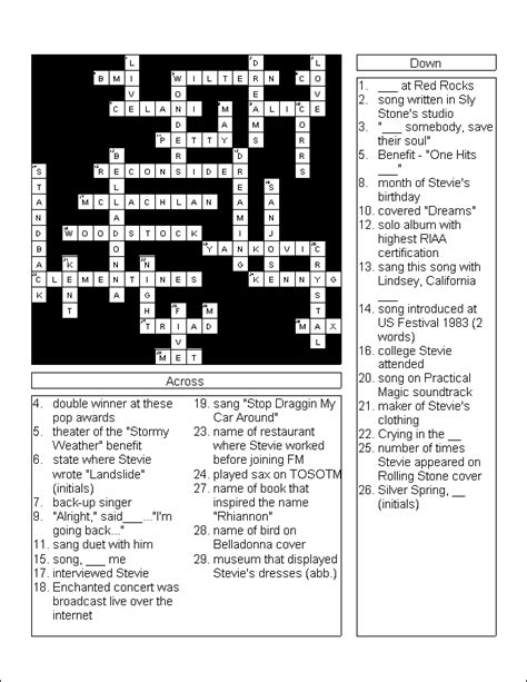 printable crossword puzzle and answers pic crossword answers new calendar template site