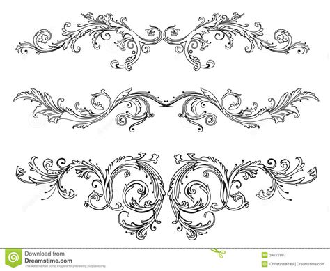 filigree clip art continue reading set of floral vintage floral border royalty free stock photography