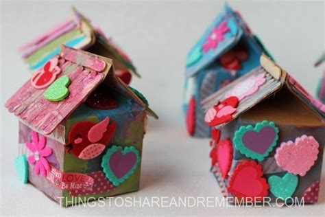 milk crafts for recycled birdhouse crafts