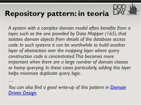 repository pattern benefits how i did it in net idiomatic domain driven design