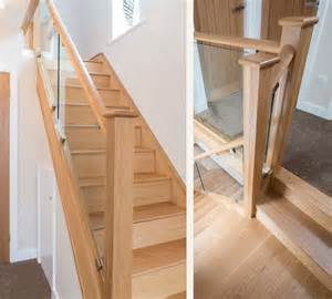 glass banisters uk glass staircase renovations medlock staircases