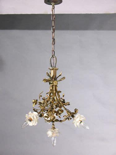 rosette l shade circa 1930 very nice french bronze art nouveau chandelier