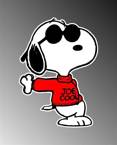 Autoaufkleber Snoopy by Snoopy Joe Cool Funny Vinyl Decal Bumper Sticker 4 Quot X5 Quot On