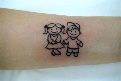 tatuagem menino e menina palito tatuagem pinterest