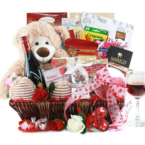 s day gift baskets sweet on you valentines gift