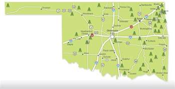 this handy map shows you the location of all oklahoma