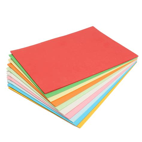 Color Craft Paper - 100pcs a4 multi color card cardboard paper diy craft