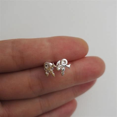 10pcs fashion tiny silver plated stud earrings prince symbol earring jewelry for