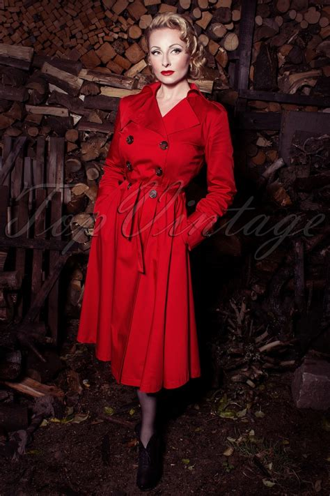 Top Vintage by Topvintage Exclusive Dietrich Swing Trench Coat In