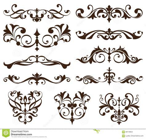 design art vintage vector set vintage ornaments corners borders vintage