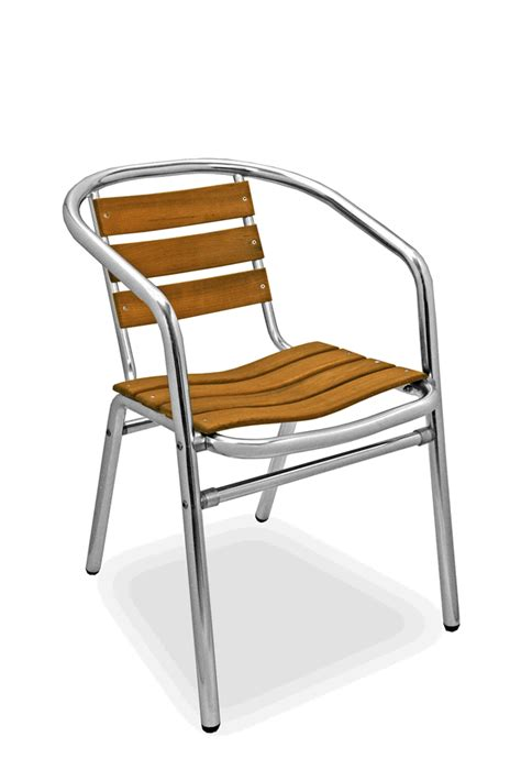 Aluminium And Teak Garden Furniture Florida Seating Commercial Aluminum Teak Outdoor