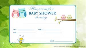 printable baby shower invitations for free printable baby owl baby shower invitation baby