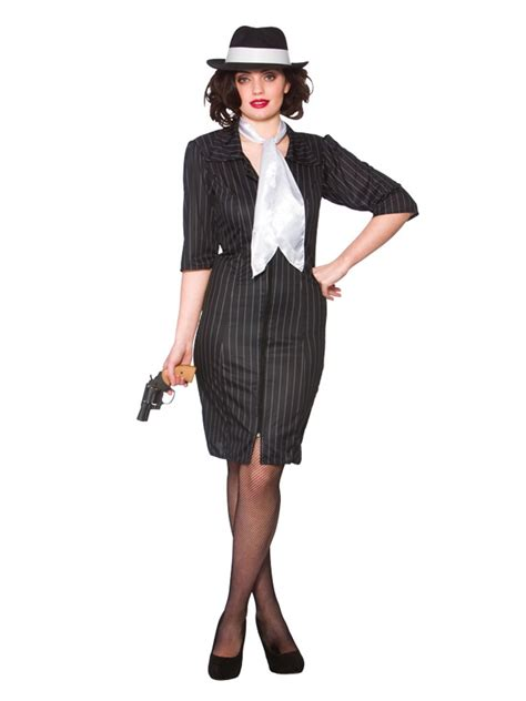 cute outfits for late 20s womems outfits ladies gangster gal 1920s 30s moll costume pinstripe