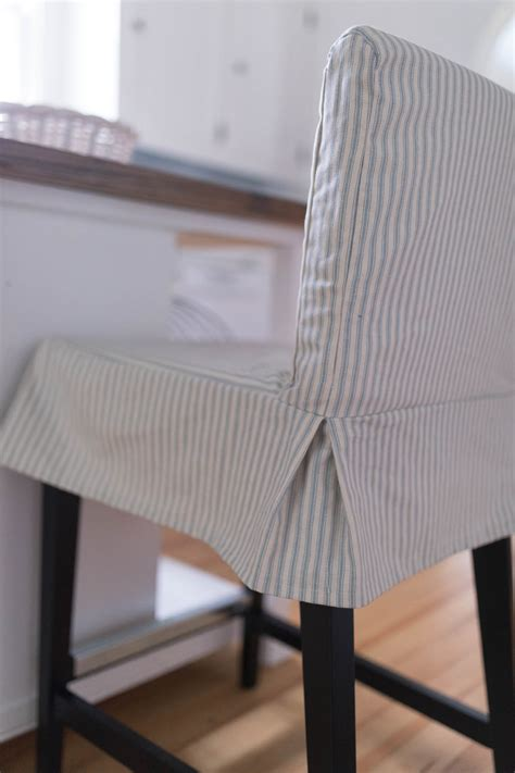 Ikea Henriksdal Bar Stool Slipcover by How To Sew A Parsons Chair Slipcover For The Ikea