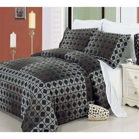 mens comforter men s duvet cover taupe geometric brown black duvet