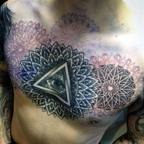 tattoo mandala illuminati 100 illuminati tattoos for men enlightened design ideas