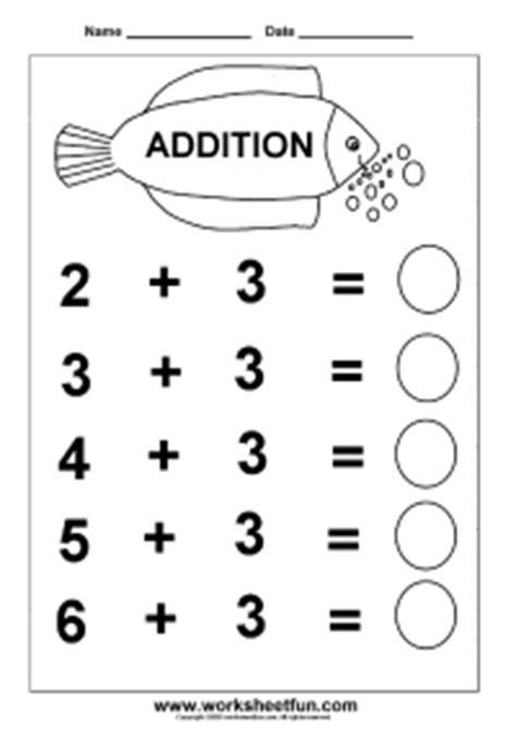 beginner addition – 6 kindergarten addition worksheets