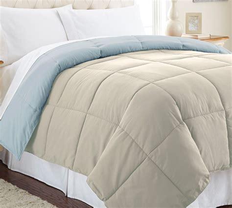 full xl comforter down alternative reversible comforter oatmeal smoke blue