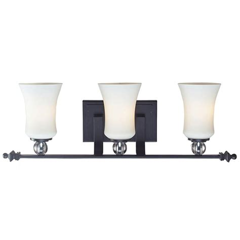 Black Bathroom Lights Filament Design 3 Light Matte Black Incandescent Bath Vanity Light Cli Jb604 3v The