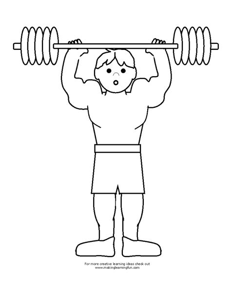color lifter weightlifting coloring pages kidsuki
