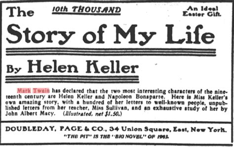 helen keller biography articles mark twain quotations helen keller