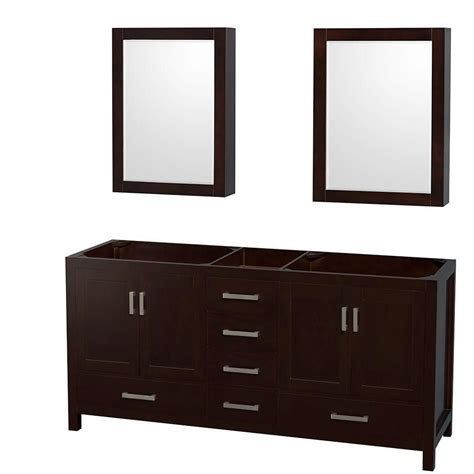 70 Inch Vanity by Wyndham Collection Sheffield 70 Inch Vanity Cabinet With Mirror Medicine Cabinets In