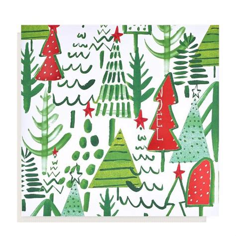 large tree pattern christmas card 10 pack oxfam gb