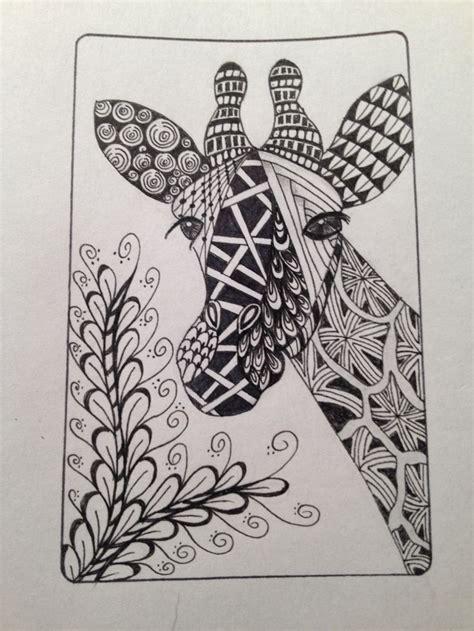 zentangle pattern giraffe giraffe zentangle zentangle pinterest