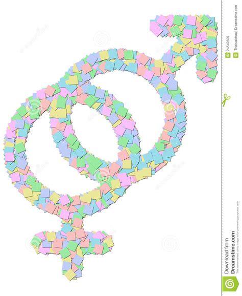 smbolo y simbologa en 842450691x s 237 mbolo masculino y femenino del g 233 nero aislado en blanco imagen de archivo libre de regal 237 as