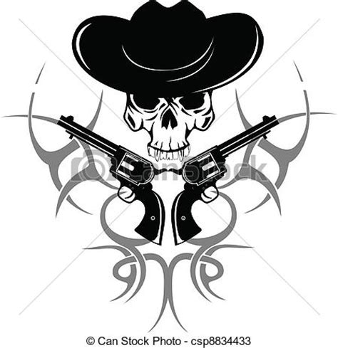 Kaos Metall Skull By Omfash a koponya kalap vektor k 233 p k 233 t revolverek koponya