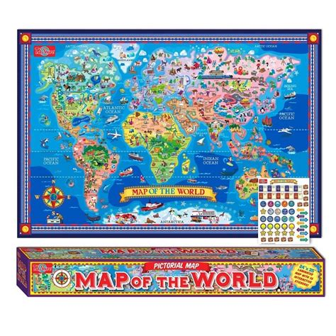 Wall Sticker Map Of The World 37 eye catching world map posters you should hang on your