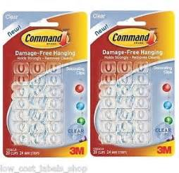 40 clear christmas light hanging hooks 3m command hang