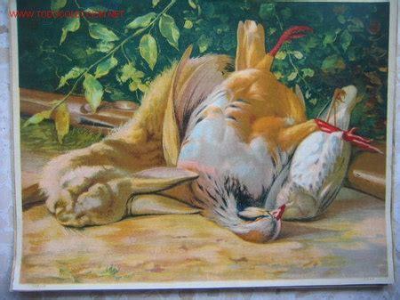 cuadros de caza bodegon laminas antiguas hacia 1930 caza comprar