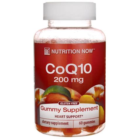 Gummy 60s 10s nutrition now coq10 gummy supplement 200 mg 60 gummies swanson health products