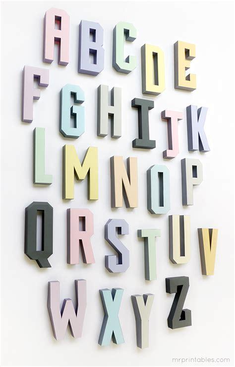 3d Alphabet Letters Template 3d alphabet templates mr printables