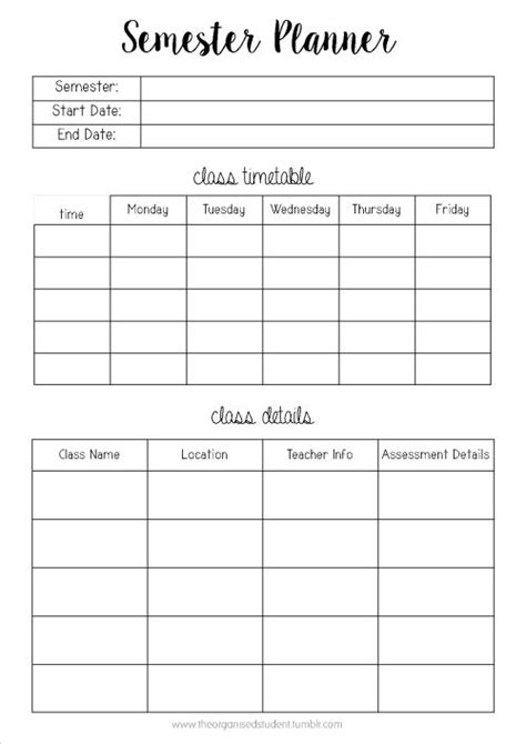 printable planner for college student best 25 student planner printable ideas on pinterest