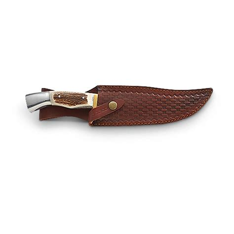 stag handle knife stag handle bowie knife 210268 fixed blade knives at