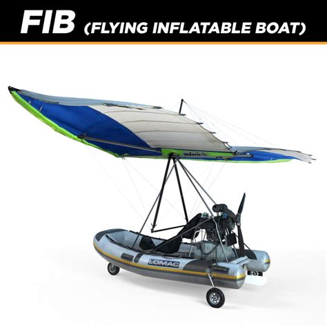 inflatable boat ultralight aircraft 3d polaris flying inflatable boat