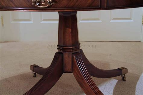 dining table with drawers 48 inch round formal duncan phyfe rosewood dining table