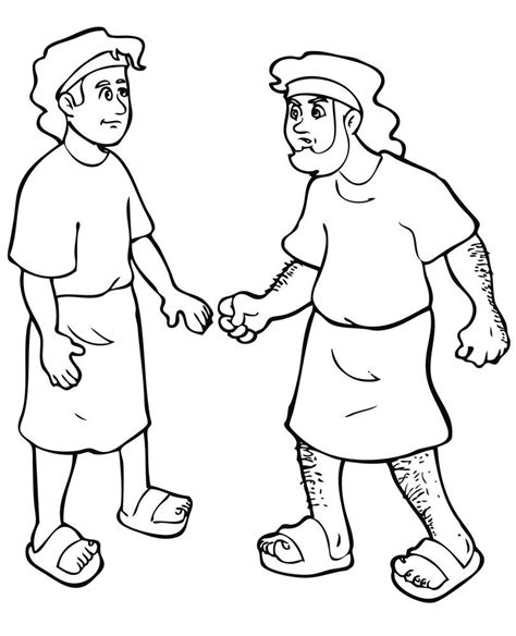 coloring page jacob and esau 1000 images about jacob on pinterest jacob s ladder