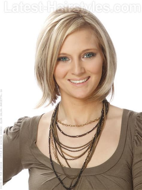 short bob styles with a subtle stacking medium haircuts fine hair
