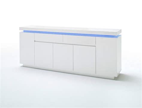 sideboard 200 x 100 sideboard odin 200x81x40 cm hochglanz wei 223 led beleuchtung