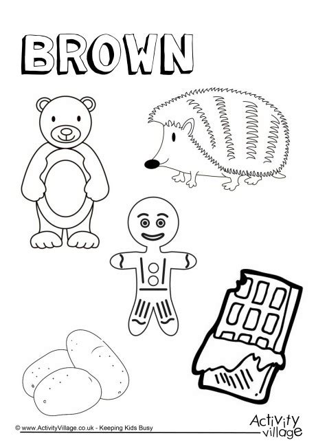 coloring pages color brown brown things colouring page