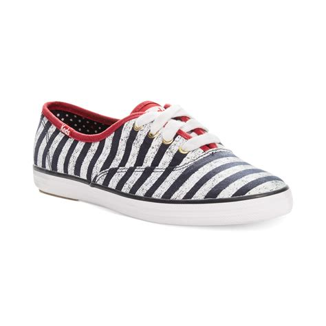 keds shoes keds chion patriotic stripes sneakers in blue lyst